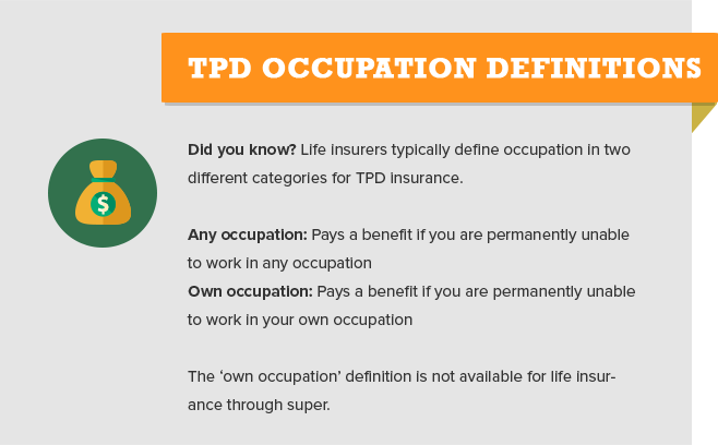 TPD OCCUPATION DEFINITIONS